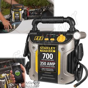 Jump Starter 700 Amp Portable Air Compressor Power Car Truck Jumper Charger