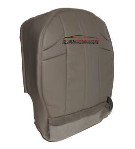2003 Jeep Grand Cherokee Driver Bottom Synthetic Leather Seat Cover Gray Pattern