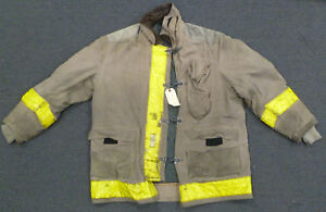 56x35 Firefighter Jacket Coat Bunker Turn Out Gear Globe J629