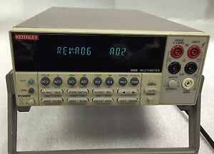 Keithley 2000 6 1 2 Digital Multimeter 6 Seller Refurbished 6 Mon Warranty