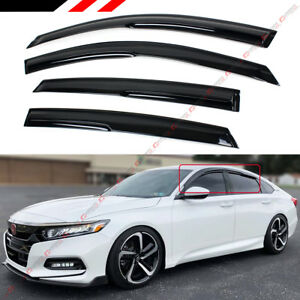For 2018 2020 Honda Accord Jdm 3d Aero Wavy Window Visor Rain Guard Deflector