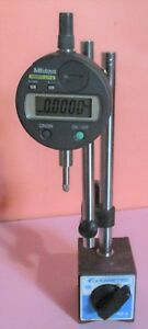 Mitutoyo Absolute Digital Dial Indicator Id s1012e And Magnetic Stand Base