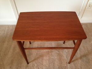 Mid Century Modern Walnut Side Occasional Table