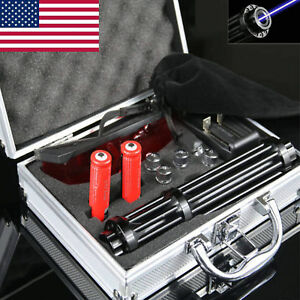 2018 Upgraded Blue Laser Pointer Match Pen Highpower Burning Beam Lights Set Kit