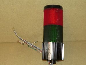 Federal Signal Beacon Stack Light Litestak Lsb 120 Red Green