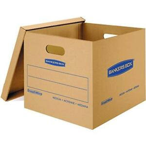 Smoothmove Classic Record Storage Boxes Moving Boxes Tape free Assembly Easy