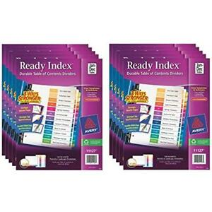 Ready Index Binder Dividers Table Of Contents Dividers Jan dec 12 Tabs 10