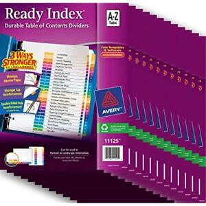 Ready Index r Binder Index Dividers Table Of Contents 26 Tabs A z Case Pack