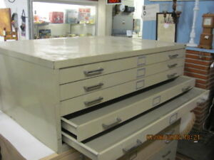 Safco Blueprint Filing Cabinet Section W 5 Drawers 35 5 X 46