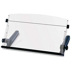 Adjustable Document Copy Holder In line With Monitor Minimizing Head And Neck