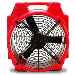 B air Pb 25 1 4 Hp Polar Axial Fan High Velocity Mover For Water Damage Red