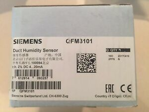 New In Box Siemens Humidity And Temperature Sensor Qfm3101