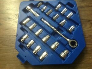 Cornwell Tools 21 Pc Pass Thru Socket Set Metric Standard Crw 21gts