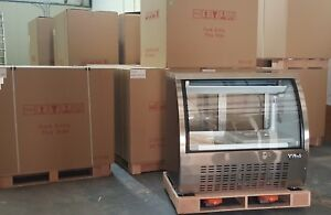 New Xiltek S s 48 Commercial Refrigerated Curved Glass Display Meat Deli Case