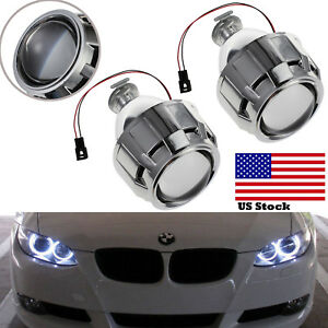 2x Car Hid Bi Xenon Projector Len 2 5 Headlight Bulbs Kit For H1 H4 H7 Rhd Us