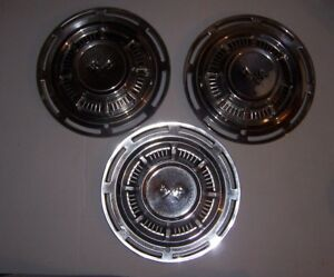 Vintage 1959 Corvette 14 Hubcaps Wheel Cover Set Of 3 Hot Rod Rat Rod