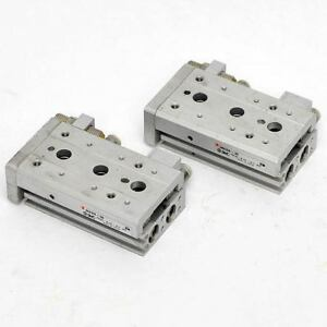 lot Of 2 smc Mxs8 30 Pneumatic Air Slide Table 8mm X30mm Stroke Linear Cylinder