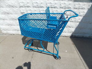 Toys R Us Blue Plastic Retail Store Shopping Cart Very Rare Collector Item