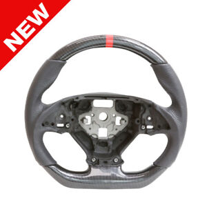 Handkraftd 2014 Chevrolet Corvette Steering Wheel Carbon Leather Black Stitch