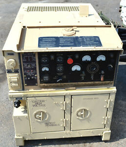 Military Mep 802a 5kw Diesel Generator 16 Hours 120 220 208 V Ac 60hz Portable
