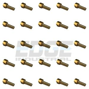 25 Pack 1 4 Hose Barb X 1 8 Female Npt Brass Pipe Fitting Gas Fuel Water Air