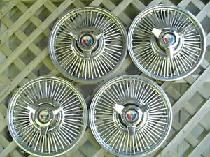 1964 1965 1966 1967 Ford Mustang Fairlane Galaxie Spinner Hubcaps Wheel Covers