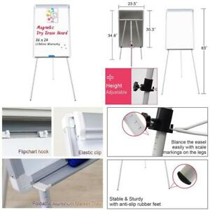 Easel White Board Magnetic Tripod Whiteboard Portable Dry Erase 36x24