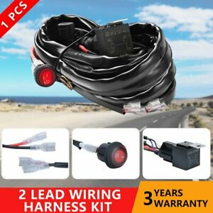 Wiring Harness Led Light Bar 40amp Relay Fuse On Off Switch 2 Lead For Jeep Atv