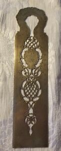 Victorian 1902 Sterling Silver Ruler Bookmark 105 Grams Of Beauty
