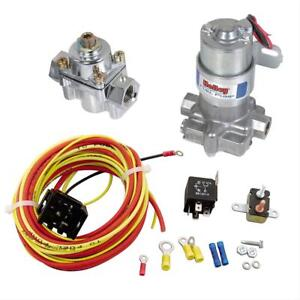 Summit Racing Holley 12 802 1 Blue Electric Fuel Pump 30 Amp Relay Kit Combo