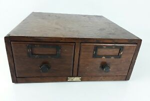 Antique Globe Wooden Index Card Filing Cabinet By Globe werrieke Co