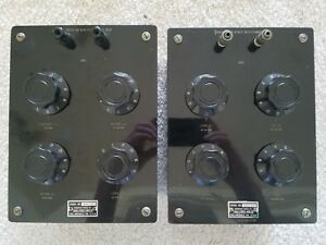 Set Of Two Shallcross Manufacturing Co No 825 And 826 Resistance Boxes Decade