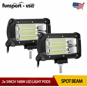 5inch 168w Led Work Light Bar Flood Combo Pods Driving Off Road Tractor 4wd 12v