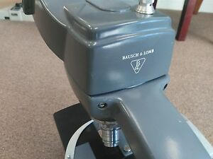 Bausch Lomb Adjustable Zoom Lighting Microscope Rectangular Stage