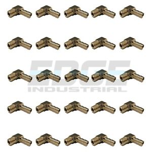 25 Pack 1 4 Hose Barb Elbow X 1 8 Male Npt Brass Pipe Fitting Wog Fuel Air
