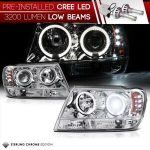built in Led Low Beam 99 04 Jeep Grand Cherokee Wj Wg Laredo Limited Headlight