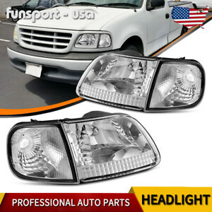 For 1997 2003 Ford F 150 F150 Expedition Headlights Corner Signal Lights Pair