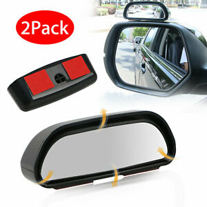 2pcs Universal 360 Car Auto Wide Angle Rear Side Mirror View Blind Spot Snap Way