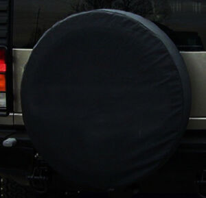 Black Spare Wheel Tire Tyre Cover Case Protector 32 33 Xl For Hummer H3 H3t