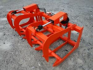 Kubota Kioti Tractor Attachment 66 Dual Cylinder Root Grapple Bucket 99 Ship