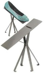 6 Polished Raw Steel 8 Shoe Stands Display Metal Retail Tilted Stay Ledge Heals