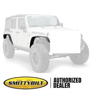 07 18 Jeep Wrangler Unlimited Xrc Smittybilt 76837 Black Textured Fender Flare
