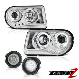05 10 Chrysler 300c 6 1l Brightest Halo Led Projector Headlamps Bumper Fog Light