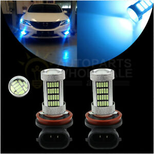 2x H11 H8 8000k 92smd Ice Blue Auto Led Bulbs For Car Driving Fog Lights Lamp