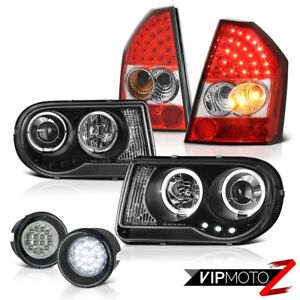 2008 2010 Chrysler 300c Srt8 Black Headlights Led Signal Taillamps Surface Fog