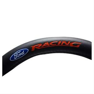 Pilot Automotive Steering Wheel Cover Full Wrap Leather Black Blue Ford Oval Red