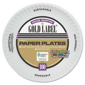 Ajm Coated Paper Plates 9 Inches White Round 1 200 Plates ajmcp9goawh