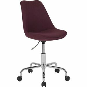 Flash Furniture Mid Back Swivel Office Chair In Purple