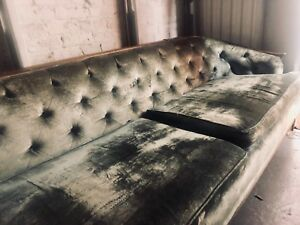 Mid Century Velvet Sofa Made In Norway