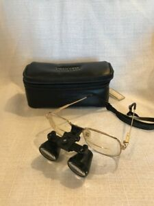 Orascoptic Telescopes Dental Loupes With Leatherette Case And Head Wrap